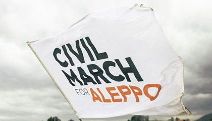 Jeden dzień na marszu Berlin-Aleppo