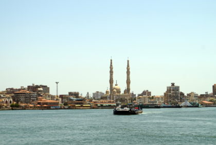 Port Said, a city between Africa and Asia