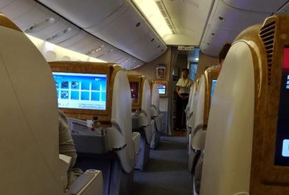 Jak wygląda podróż w klasie biznes linii Emirates?